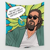 the dude Wall Tapestries featuring Dude by Paula Savage