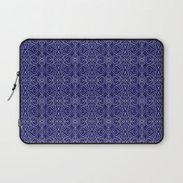 Dark Intricacy Persian Rug Magic Carpet Midnight Blue Indian Pattern Spirit Organic Laptop Sleeve