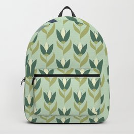 Field of Tulips green background Backpack