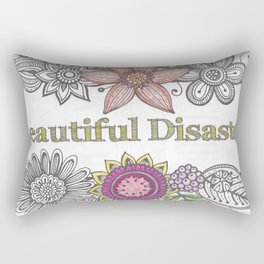 Floral Beautiful Disaster Rectangular Pillow