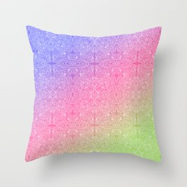 talk about a neon morning doodle, bright Throw Pillow