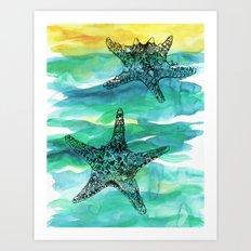 Starfish print Art Print