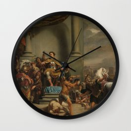 The consul Titus Manlius orders of the Beheading of his Son, Ferdinand Bol, 1661 - 1664 Wall Clock