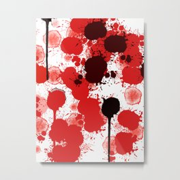 Bloody Wall of the Past Metal Print