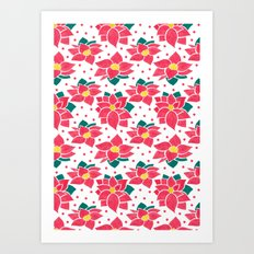 The Poinsettia Pattern Art Print