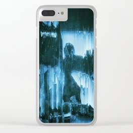 Chilling. Blue Edition Clear iPhone Case