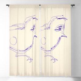Study Hard Bird Blackout Curtain