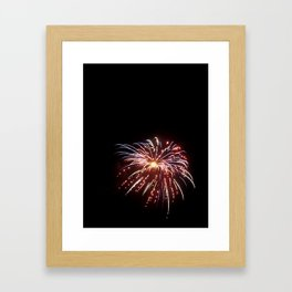 Fireworks on the Fourth - Red and Blue Framed Art Print