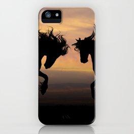 Wild Horses Silhouette iPhone Case
