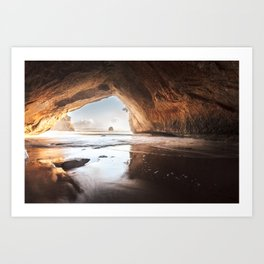 Cathedral Cove - New Zealand Art Print