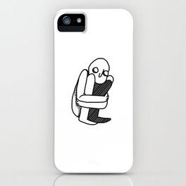 fetal position iPhone Case