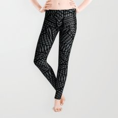 Ab Lace Black and Grey Leggings