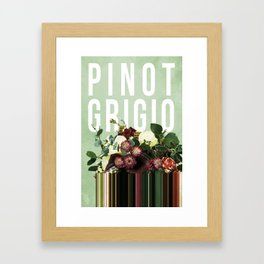 Pinot Grigio in Sage Framed Art Print