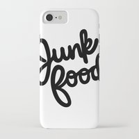 junk food iPhone & iPod Cases featuring Junk Food by mellanid