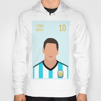 messi Hoodies featuring MESSI by Anthony Morell
