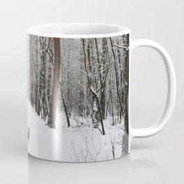 Dog in the snowland Coffee Mug