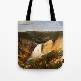 Majestic Yellowstone Upper Falls Tote Bag