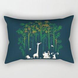 Re-paint the Forest Rectangular Pillow