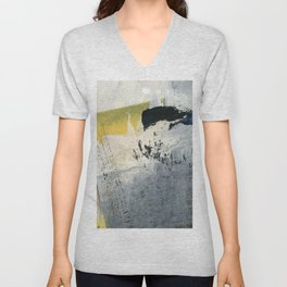 Mellow Yellow Texture Collage Unisex V-Neck