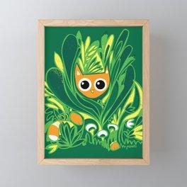 Cat in the Wild Framed Mini Art Print