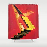 revolution Shower Curtains featuring Revolution by Andrej Balaz