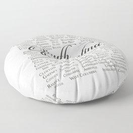South Carolina Floor Pillow