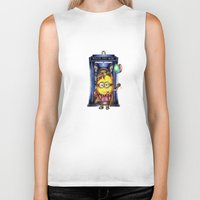 ballon Biker Tanks featuring  Yellow Doll  hold ballon doctor with blue phone booth by JanaProject