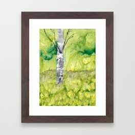 Birch Tree in Spring Framed Art Print