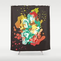 floyd Shower Curtains featuring Pink Floyd Tribute (Alternate Version) by RJ Artworks