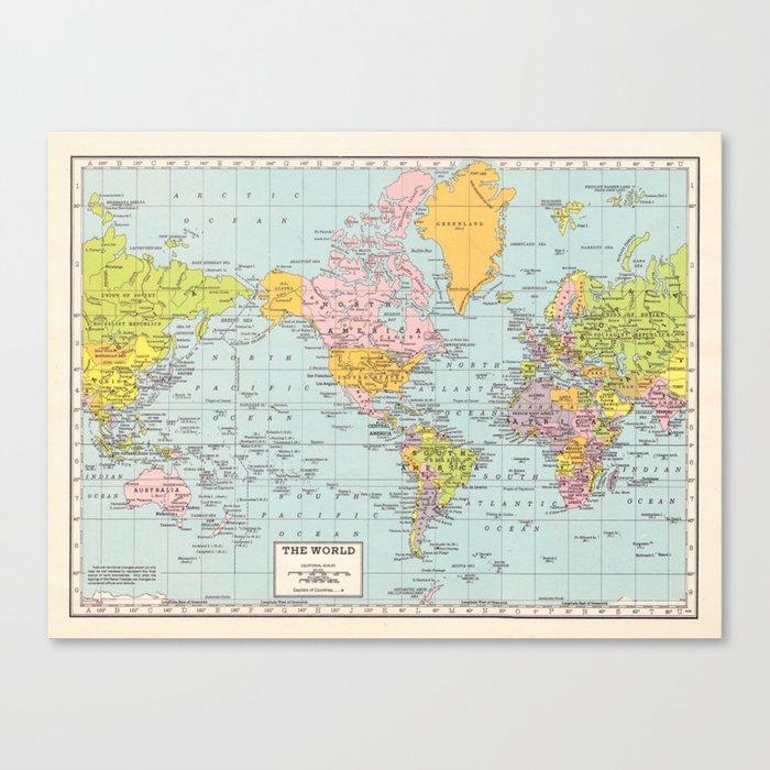 World Map Leinwanddruck
