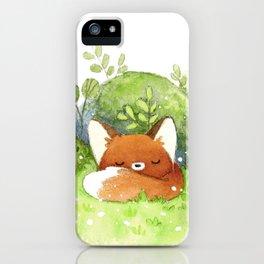 Little fox sleeping iPhone Case