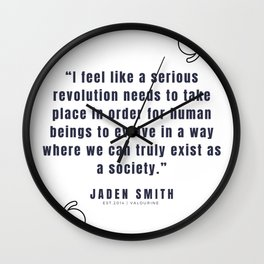 10   |  Jaden Smith Quotes | 190904 Wall Clock
