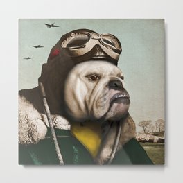 "Wing Commander, Benton ""Bulldog"" Bailey of the RAF Metal Print"