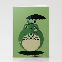 cthulu Stationery Cards featuring my neighbor cthulu by pixel.pwn | AK