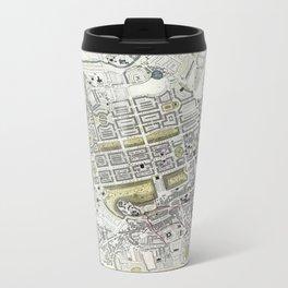 Plan of Edinburgh, Scotland - 1834 Metal Travel Mug