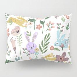 Springtime In The Bunny Garden Of Floral Delights Pillow Sham