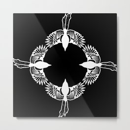 Harakka - Magpie circle Metal Print