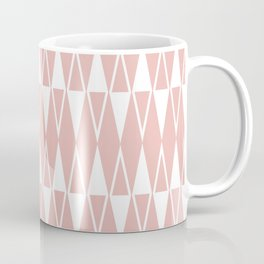 Mid Century Modern Diamond Pattern Dusty Rose 234 Coffee Mug