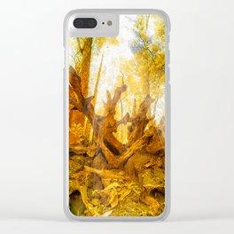 Dried Oak Clear iPhone Case