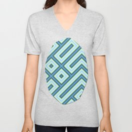 Square Truchets in MWY 01 Unisex V-Neck