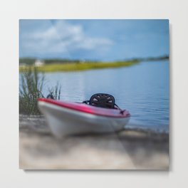 Tilt-Shift Photography of  Kayak Metal Print