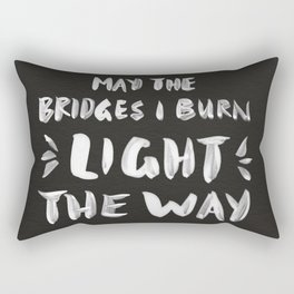 Burned Bridges – Black & White Rectangular Pillow