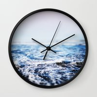 surf Wall Clocks featuring Surf by Leah Flores