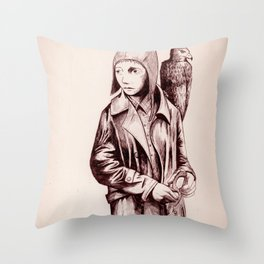 Amelia and Her Navigator Throw Pillow