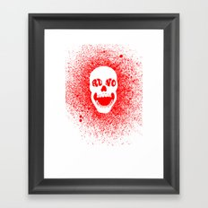 RUNO SKULL EYES Red Framed Art Print