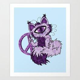 Cyclopes Kitty Art Print