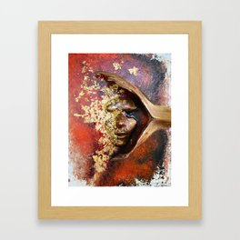 Red Mask Framed Art Print