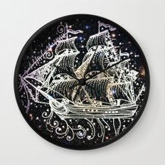 The Great Sky Ship II Wall Clock