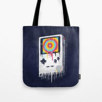 gaming Tote Bags featuring Gaming by Ronan Lynam