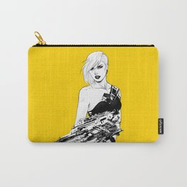 Arbitrary - Badass girl with gun in comic and pop art style Carry-All Pouch